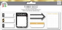 Me and My Big Ideas - Happy Planner - Sticky Notes - Black, White and Gold