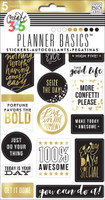 Me and My Big Ideas - The Happy Planner - Planner Basics Stickers - Black, White and Gold