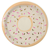 Meri Meri - Foiled Doughnut Plate - Set of 8