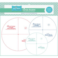 "Riley Blake Designs - Lori Holt of Bee in my Bonnet  - Circle Ruler Set - 8"", 10"" & 12"""