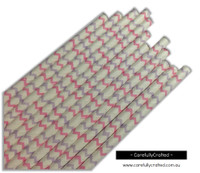 25 Paper Straws - Pink and Purple Chevrons - #PS56