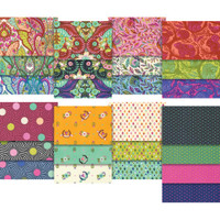 "Free Spirit Fabric Precuts - 5"" Charm Pack - Slow and Steady by Tula Pink"