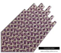 25 Paper Straws - Purple Demask - #PS61