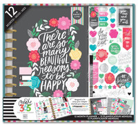 Me and My Big Ideas - The Happy Planner - 12 Month Box Kit - Flower Pop - BIG (Undated)
