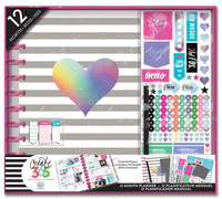 Create 365 - Me and My Big Ideas - The Happy Planner™ 12 Month Box Kit - Rainbow Foil - BIG Undated, Horizontal)