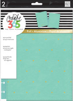 Create 365 - Me and My Big Ideas - The Happy Planner Snap-In Cover - Turquoise / Gold Dots - Classic