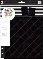 Create 365 - Me and My Big Ideas - The Happy Planner™ Snap-In Cover - Quilted Black - CLASSIC