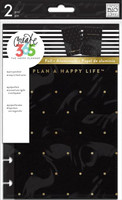Me and My Big Ideas - The Happy Planner - Snap-In Cover - Black / Gold Dot - Mini