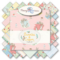 Riley Blake Fabric - Bunnies and Cream by Lauren Nash Collection - Fat Quarter Bundle
