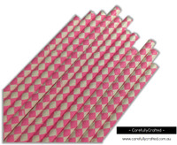 25 Paper Straws - Pink Diamonds - #PS71