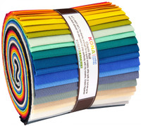 Robert Kaufman Fabric Precuts - Kona Cotton - Make It Simpler Designer Palette - Wide Jelly Roll