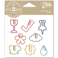 Day 2 Day - Planner Shaped Clips - Set of 8