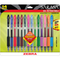 Sarasa Retractable RDI Gel Pen .7mm - Set of 14