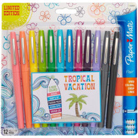 Paper Mate Flair Medium Felt Tip - Set of 12 - Tropical Vacation