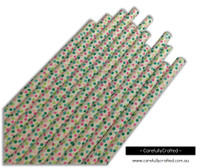 25 Paper Straws - Mini Rainbow Polka Dots - #PS79
