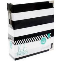 Heidi Swapp Memory Planner Binder - Black and White Stripe