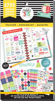 Me and My Big Ideas - The Happy Planner - Value Pack Stickers - Teacher - BIG (#1733)