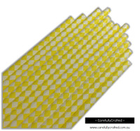 25 Paper Straws - Yellow Diamonds - #PS82