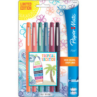 Paper Mate Flair Medium Felt Tip - Set of 6 - Tropical Vacation
