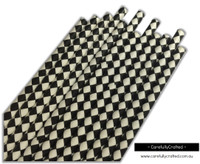 25 Paper Straws - Black Diamonds - #PS84