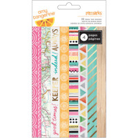 Amy Tangerine - Rise & Shine Washi Tape Strips - 6 Sheets