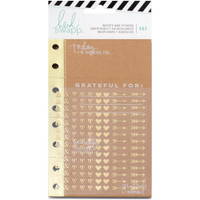 Heidi Swapp - Memory Planner Inserts With Stickers - Give Thanks