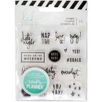 Heidi Swapp - Memory Planner Clear Stamps - Weekend