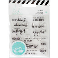 Heidi Swapp - Memory Planner Clear Stamps - Quotes