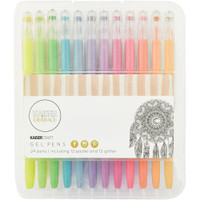 KaiserCraft Gel Pens -  Set of 24 -  Pastel and Glitter