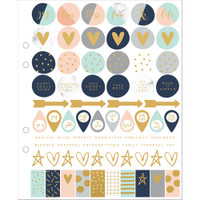 "KaiserCraft Planner Stickers 7"" X 8"" - 3 Sheets - Gold Foil Icons"