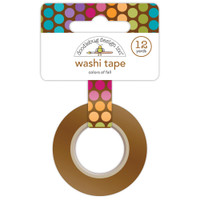 Doodlebug Washi Tape 15mm X 12yd - Fall Friends Colors Of Fall