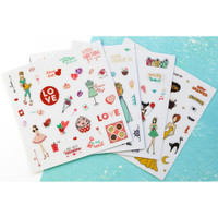 Prima Marketing - Julie Nutting Planner Clear Matte Stickers  - 4 Pack