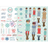 My Prima Planner - Julie Nutting - Monthly Stickers - 2 Pack - January