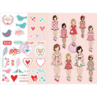 My Prima Planner - Julie Nutting - Monthly Planner Stickers - 2 Pack - February
