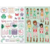 My Prima Planner - Julie Nutting - Monthly Planner Stickers - 2 Pack - March