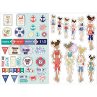 My Prima Planner - Julie Nutting - Monthly Stickers - 2 Pack - August