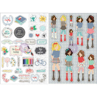 My Prima Planner - Julie Nutting - Monthly Stickers - 2 Pack - September