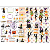 My Prima Planner - Julie Nutting - Monthly Stickers - 2 Pack - October