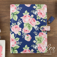 Webster's Pages - Color Crush - A5 Faux Leather Planner Kit - Navy Floral