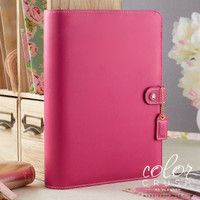 Webster's Pages - Color Crush - A5 Faux Leather Planner Kit - Fuchsia