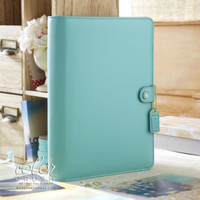 Webster's Pages - Color Crush - A5 Faux Leather Planner Kit - Light Teal