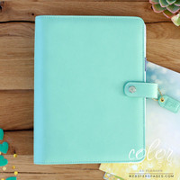 Webster's Pages - Color Crush - A5 Faux Leather Planner Kit - Mint