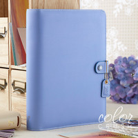 Webster's Pages - Color Crush - A5 Faux Leather Planner Kit - Periwinkle