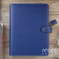 Webster's Pages - Color Crush - A5 Faux Leather Planner - Navy - Binder Only
