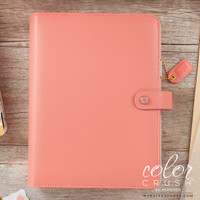 Webster's Pages - Color Crush - A5 Faux Leather Planner - Pretty Pink - Binder Only