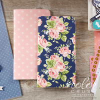Webster's Pages - Color Crush - Travelers Notebook - Floral & Star - Standard (Lined, Graph)