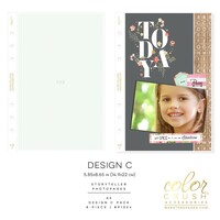 Webster Pages - Color Crush - A5 Photo Sleeves - Planner Pockets - Design C