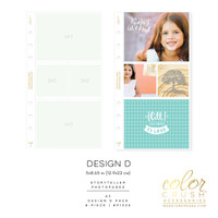 Webster Pages - Color Crush - A5 Photo Sleeves - Planner Pockets - Design D