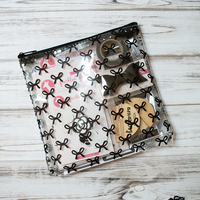 Freckled Fawn - Planner Zipper Pouch - Black Bows