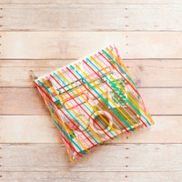 Freckled Fawn - Planner Zipper Pouch - Rainbow Airline Stripes